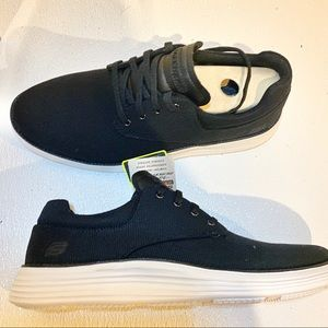 Mens black sketched sneakers size 10.2